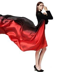Frauen Satin Silk All-Match Tücher Aufmaß Weiche Silkworm Silk Schatten Schal Muffler Muslim Hijab Bufandas Sunscreen Schals