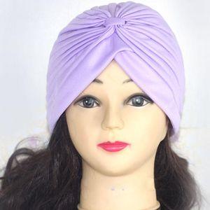 Fashion Women Turban Caps Solid Polyester Chemo Hat Islamic Headscarf 3d Flower Bonnets Muslim Headband Female Hair Accessories sqcqya