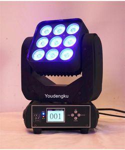 Kafa Light'ın 9x10w RGBW 4in1 Moving Head Matrix Işın Led Magic Panel Sahne Işık Hareketli 6 adet Sharpy Işın