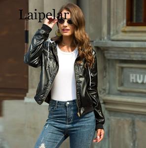 Laipelar avestruz chaqueta Mujeres bolsillos de la chaqueta chaquetas de la motocicleta mujeres otoño de manga larga chaqueta de bombardero Mujer Prendas de abrigo abrigos