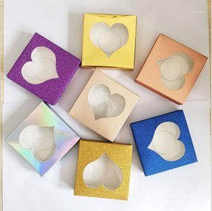 10pcs Colored Paper Eyelash Packaging Box With Tray Lash boxes Packaging Rectangle Makeup Stoarge Package Box1