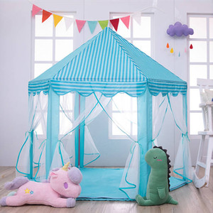 Baby toy Tent Portable Folding Prince Princess Tent Children Castle Play House Kid Gift Outdoor Beach Tent Toy For Kids gifts LJ200923