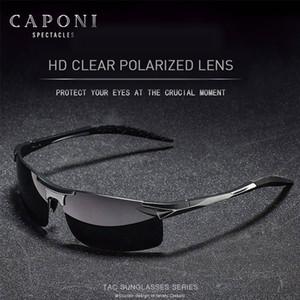 Gafas de sol CP3043 CAPONI 2020 Marco de las gafas de sol polarizadas para los hombres Conducir Deportes Sombras protección UV400 de aluminio del Hombre