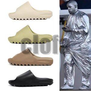 2020 Sneakersyezzyyezzysfoam runner 450 earth brown bone resln resin Sandals Kanye West 450 men women slide slides T1o2#