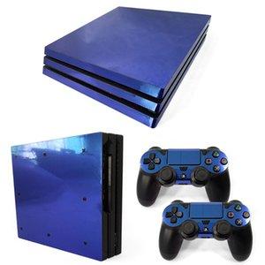 Vinil pele adesivo capa para PS4 Pro para Sony PS4 Pro Playstation 4 Console + 2 Controlador Decalque Acessórios de Jogo W1219