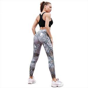 Leggings Women New Fast Shipping Women White Snake Printed Leggings Black PU Leather Patckwork Workout Hot Hip Pleated