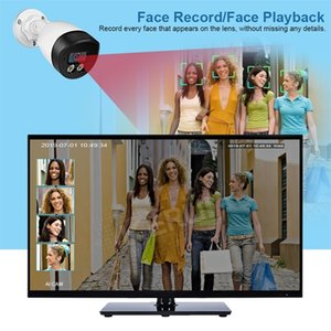 KERUI Face Record 5MP HD POE Camera AI IP Camera Outdoor Waterproof Video Surveillance Camera NVR Kit CCTV Security System LJ201209