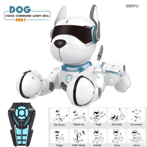 JXD A001 Smart Talking RC Robot Dog Walk Dance Interactive Pet Puppy Robot Dog Удаленный голосовой контроль Интеллектуальная игрушка для детей 1020