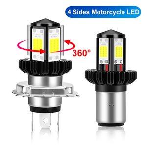 LED BA20D H6 H4 Moto faro Bulbi Hi Lo fascio Moto LED 6000K della lampada del faro bianco 12V 1200LM