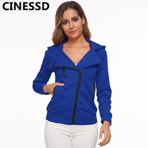 Cinessd Kadınlar Kapüşonlu Uzun Kollu Ceketler Ceket Katı Fermuar Hırka Düğmesi Rahat Hoodies Tişörtü Kaşmir Coats1