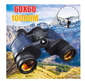 Высокая четкость телескопа 60X60 Бинокль Hd 10000m высокой мощности для наружного Охота Оптический Lll ночного видения бинокулярный Fixed Увеличить