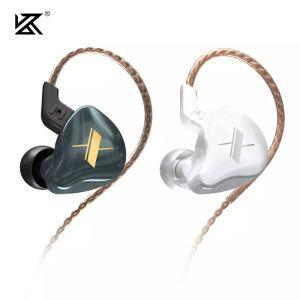 Kz edx 1dd hifi dans l'oreille écouteurs moniteur casque à l'oreille Earbuds Sport Sport Bruit Casque KZ ZSX ZAX ZS10 PRO ZSN PRO ZSN