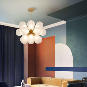 Nordic Glass Bubbles Parlor Led свет подвеска Loft Deco Hotel Hall Спальня Столовая Подвеска лампы