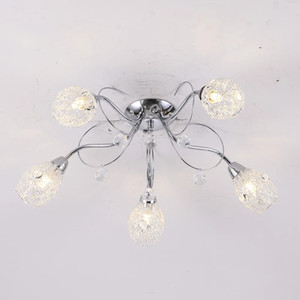Postmodern led ceiling lamp simple Nordic guest dining room bedroom crystal chandelier lamp personality creative molecular lamp