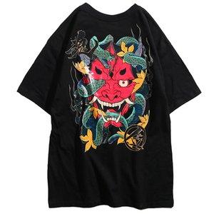April Snake Tops Short Hop T Foots Tee Harajuku Ghost 2020 MOMO Streetwear Tshirt Хлопсот Хипл Рукав Летняя футболка Meen Hop 1005 HIP Khdgr