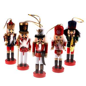 13 12 10.5cm Nutcracker Puppet Ornaments Desktop Decoration Cartoons Walnuts Soldiers Band Dolls Nutcracker Miniatures