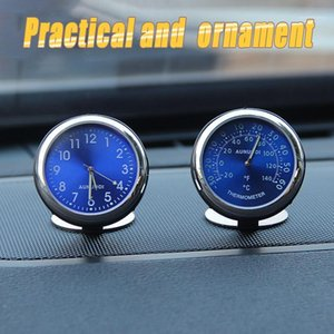 Car Ornament Automotive Clock Auto Watch Automobiles Interior Decoration Stick-On Clock Ornaments Accessories Christmas Zens1