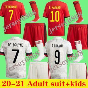 Niños 20 21 Jerseys de fútbol de Bruyne Lukaku Men Kit Kit 2020 2021 Peligro Batshuayi Kompany Dembele Adulto Niño Set Football Shirt