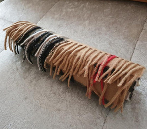 Зимний кашемировый шарф высококачественный мягкий толстый кашемир шарфы классический длинный сзыв шарф мужские женские бренды шаль-шарфы 180 * 32см оптом