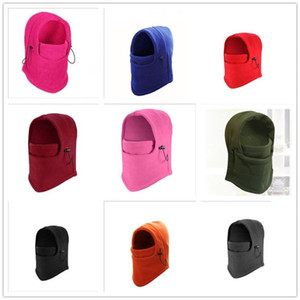 Outdoor Fleeced Warm Hat Unisex Windproof Full Face Mask Cover CS Hats Men Women Masks Scarf Winter Ski Cycling Caps Head Cover F102103