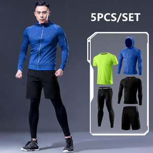 2020 Warm Sports Suits Men's Running Set Jogging Basketball Underwear Tights Sportswear Gym Tights Sport Wear Tracksuits Clothes