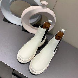 Venda Hot Top qualidade para mulheres moda superfície Martin botas de couro e antiderrapantes bottes projeto inferior derramar femmes de plataforma inverno luxe