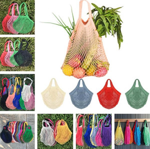 New pure cotton net bags thick and 2cm wide portable shopping bags fishing net beach Grocery Bag Home Storage Bag 9081
