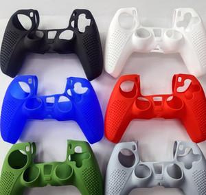 Syytech 단일 컬러 PS5 컨트롤러 스킨 케이스 게임 보호 쉘 실리콘 케이스 실리콘 슬리브 플레이 스테이션 5 PS5 액세서리