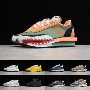 Sacai Lvd Waffle Daybere Sneakers Mens Womens Triple Black Yellow White Designer Treinadores Tubarão Moda Running Shoes