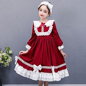 kids dresses for Girls costume Lolita skirt autumn new 2020 plus girl party dress elegant Lolita children princess dress vestido Y1220