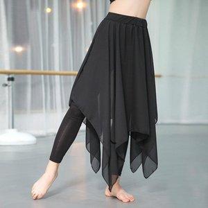 Latin Dance Pantalon jupe formation Pantalon Robe de danse moderne Costume latin longue Gaze Pantalon pratique de ballet