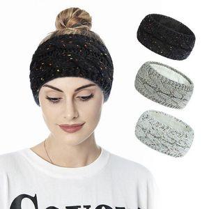 2021 Knitted Turban Headbands For Women Winter Warm Crochet Headband Headwrap Wide Ear Warmer Hairband Girls Hair Accessories