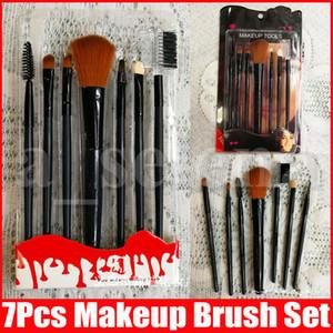 Макияж Кисти Набор инструментов для макияжа туалетных Kit Make Up Brush Set Cosmetic Foundation Brush Professional 7 PCS