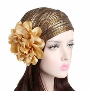 Muslim Women Hijabs Hair Accessories for Women Headband Elastic Turban Cap Cotton Flower Kerchief Headbands Hat Headwear