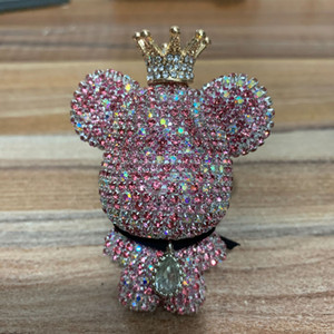Aromatherapy clip cars air outlet creative diamond-studded violent bear perfume clip aromatherapy car air outlet perfume bear outlet red