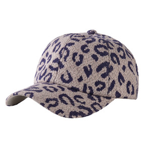 6 Styles Knitted Leopard Print Ponytail Baseball Cap Criss Cross Ball Caps Fashion Leopard Print High Hat Fashion Street Out Cap LLA180