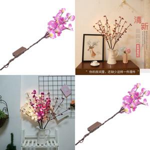 가족 실용적인 장식 나무 램프 LED 실내 장식 나비 난초 벚꽃 컬러 조명 침실 학습 장식품 11 58HH J2