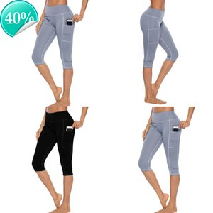 Entraînement 2020 Femme Capri Fitness Leggings avec poche latérale haute taille Yoga Sportwear Legging Sport Femme Pants S3WZ