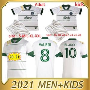 Высокое качество 2020 2021 Portland Timbers Home Soccer Trackys 20 21 Blanco Chara Valentin Valeri Men Football Jersey Рубашки
