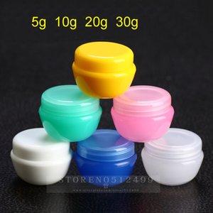 casi cosmetici scatola di funghi plastica PP Cream Lipstick Jar trasporto libero 5g campione Bottiglie sottopacchetto Lotion imballaggio della bottiglia