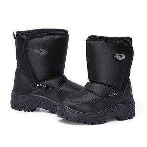 SKHEK 2020 New Fashion Shoes quente e confortável Crianças Meninos Neve Preto Botas For Kids