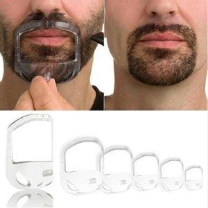 5Pcs lot Beard Comb Hairbrush Symmetric Cut Salon Mustache Beard Styling Template for Beard Shaping Trimming Tool