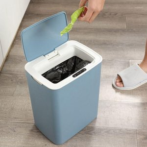 Intelligent Automatic Induction Electric Rubbish Trash Can Smart Rechargeable Type Waste Bins Garbage Storage Basket Home Office1