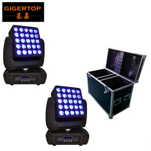 2IN1 Flightcase обновление 25 Глава Led Matrix Moving Head Light RGBW 4IN1 Cree лампа 12W LED Single управления водить этап Audience света