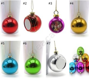 2020 Sublimation Christmas Baubles Thermal Xmas Tree Ball Glossy Shiny Hanging Balls Bauble Shatterproof Ornaments Decoration 3 SizesF102204