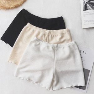 Summer ice silk shorts ladies outer wear summer anti light shorts thin section white leggings