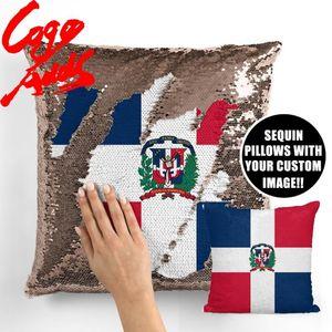 Dominican Republic decorative throw pillows reversible mermaid sequin pillow case cover dropshipping