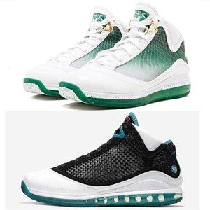 높은 품질기를 스포츠 스니커즈 크기 7-12 냉각 장치 남성 농구 신발 (7) 레드 카펫 화이트 블랙 유리 블루
