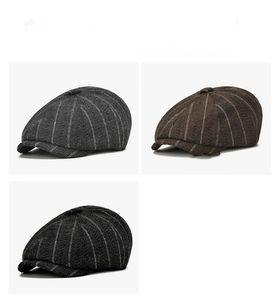 Wolltuch Krim Hut Stickerei Mann Frau Spitzenkappen BERET Achteckige Maler Headwears Herbst Winter draußen Feste Farbe 12JB L2