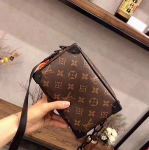 Woman Original leather Fashion Luxury Handbag Purses Classic Brown Leather Handbags Shoulder Chain Cross body Bag Tote - L2308